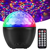Luces Discoteca activadas por sonido, Bola de Discoteca con control remoto,16 colores luces estroboscópicas giratorias cambiantes RGB con USB altavoz Bluetooth para DJ, Navidad, bodas, Bola Discoteca.