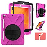 TSQ iPad 10.2 Case with Pencil Holder | [Built-in Screen Protector] Heavy Duty