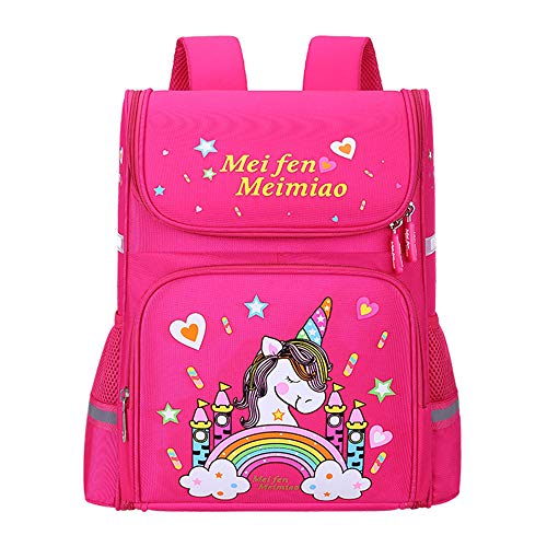 Children's Backpack, Kids School Bag Primary Shoulder1-4 Grade Class Best Gift Back to School-Pink1