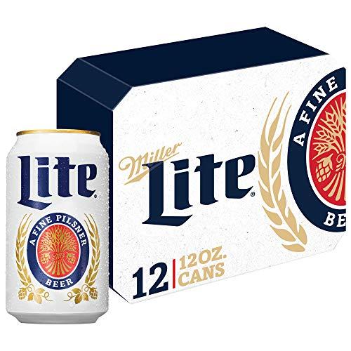 Miller Lite Pilsner Beer, Light Beer, Beer 12 Pack, 12 FL OZ Cans, 4.2% ABV
