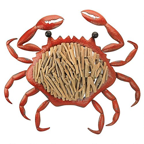 Design Toscano Coastal Crab Sea Life Wall Art, Red