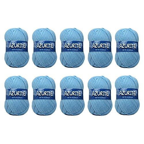 Distrifil - 10 pelotes de laine à tricoter Distrifil AZURITE 3036 pas cher 100% acrylique - 3036