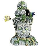 Hamiledyi - Estatua de Buda para acuario, diseño de pez de resina, para decoración de pecera grande