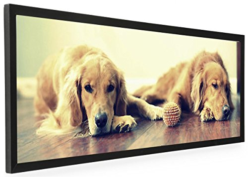 40 x 13.5 Panoramic Photo Frame for Wall Mount Use, 1-inch Profile, Aluminum (Black)