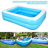 Family Inflatable Pool, Baby Kid Inflatable Swimming Pool Paddling Pool Large Size Thickened Square Swimming Pool for Toddlers, Kids, Family, Above Ground, Backyard, Outdoor