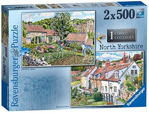 Ravensburger 14969 Cosy Cottages No.1 – North Yorkshire 2 x 500 Teile Puzzle für Erwachsene und Kinder ab 10 Jahren, Mehrfarbig