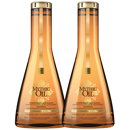 Champú Mythic Oil para cabello normal a fino de L'Oreal Professionnel, doble