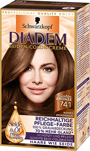 Diadem Seiden-Color-Creme 741 Warmes Bronzebraun Satin Bronze Stufe 3