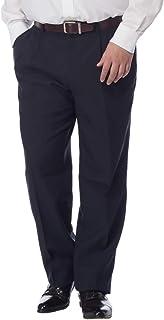 [サカゼン] スラックス 大きいサイズ メンズ ツータック ウォッシャブル ビジネス パンツ 洗える シンプル 無地 仕事着 快適 ダークグレー/グレー/ブラック/ネイビー 100 105 110 115 120 125 130cm PETER...