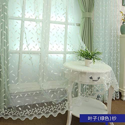 WBXZAL-Rideaux Rideau de Dentelle européenne corée Broderie fenêtre écran Blanc Frais Chambre Ombre Salon Rideau Pastorale fenêtre Flottante de Produits Finis,250,et