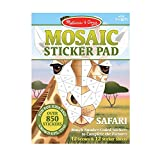 Melissa & Doug Mosaic Sticker Pad Safari Animals (12 Color Scenes to Complete with 850+ Stickers), Great Gift for Girls and Boys - Best for 7, 8, 9 Year Olds and Up