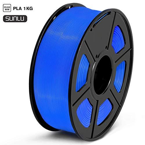 SUNLU Filamento PLA 1.75, Stampante 3D PLA Filamento 1kg Spool Tolleranza del diametro +/- 0,02 mm,PLA blu