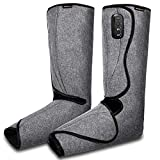 Shine Well Leg Massager for Circulation Upgraded Cordless Air Compression Rechargeable Foot & Calf Massager with Built-on Controller, 3 Modes & 3 Intensities for Pain Relief Home and Office Use