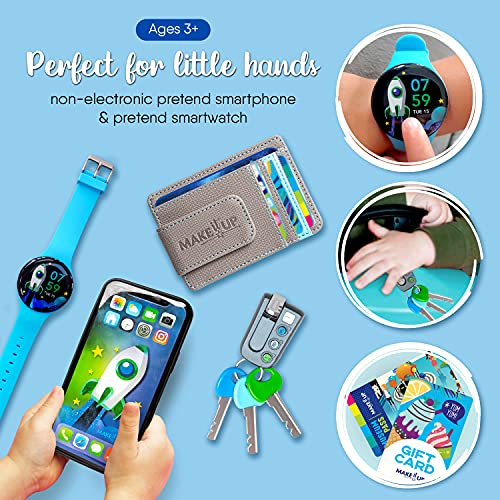 Make it Up, Little Entrepreneur, Pretend Non Electronic Realistic Kids Phone and Play Smartwatch with Deluxe Wallet, Sunglasses and Accessories