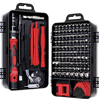 Screwdriver Set 115 in 1, YTFGGY Mini Precision Screwdriver Set with Case, Multi-function Magnetic Screwdriver Kit with Replaceable Bits for iPhone, Mac, Computer, Laptop, Watch, Glasses, Electronics by YTFGGY