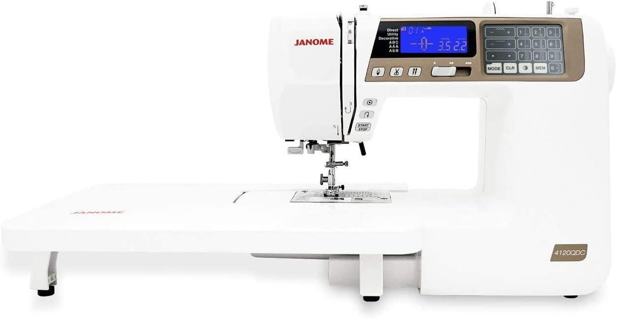 Miami Mall Janome 4120QDC Computerized Max 89% OFF Sewing Machine Color New 2020 Tan