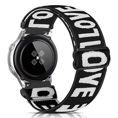 Lourhome Correa elástica compatible con Samsung Galaxy 46 mm, Gear S3 Frontier/Classic, Garmin Vivoactive 4, Fossil Gen 5, 22 mm, cómoda correa de tela, para mujeres y hombres