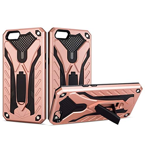 MyCase for Oppo A71 Shockproof Dual Layer 2-in-1 Armor PC+TPU Protective Hard Stand Case (Color : Rose Gold)