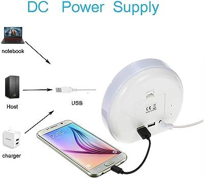 DPS&RXX Despertadores Digitales,Wake Up Light,Simulación de Amanecer/Crepúsculo,7 LED