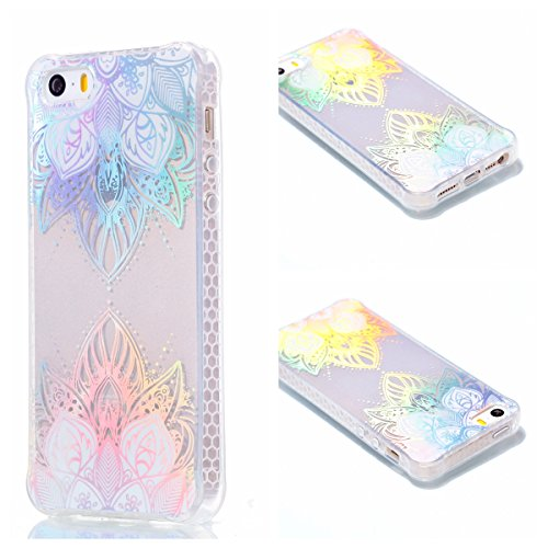 iPhone 5 Hülle, iPhone 5S Handyhülle,iPhone SE TPU Silikon Backcover Case Handy Schutzhülle ,Cozy Hut iPhone 5 iPhone 5S iPhone SE Premium Transparent Soft TPU Silicone Hülle Bumper IMD Technologie Doppelseitig Plating Farbüberzug Gradient Farbe Design Backcover Hülle Case für iPhone 5/5s/SE 4,0