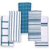 Asciugamani da cucina Trade Fountain - Confezione da 5 asciugamani da cucina in cotone - Asciugamani da cucina 46 x 71 cm - Tessuto in puro cotone 100% (alzavola - Cotton Culture)