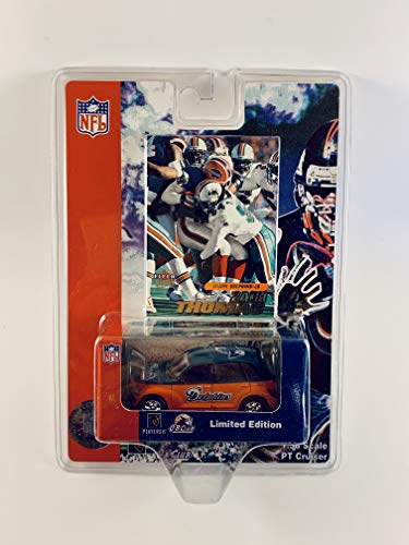 Miami Dolphins 2001 Diecast NFL PT Cruiser with Zach Thomas Fleer Ultra Card by White Rose