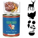 Veritas Hundemenü 28 x 800 g Dosen in 6 Geschmacksrichtungen Hundenahrung Premium Nassfutter Hundefutter ohne Konservierungsstoffe, keine chemischen Farb-, Duft- und Lockstoffe - 6