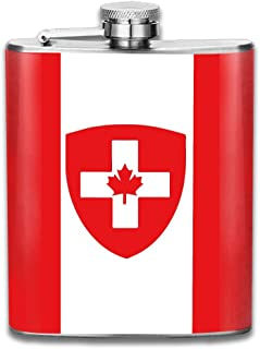 Fbgftbhgbhgb Swiss Canadian Flag Combo Gifts Top Shelf Flasks Stainless Steel Flask