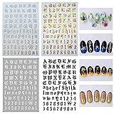 Selbstklebende Nagelfolien einfache Englisch Buchstaben Laserlicht Langanhaltende nail wraps in vielen verschiedenen Farben - Nagelaufkleber | nail sticker |Ultradünner Klebstoff (C)
