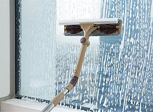 De auto raam schoonmaken gereedschap wassen Mop met Squeegee, Telescoping Fold Window Cleaning Pole, 1,55 M lange telescopische Pole- Beste Cleaner voor raam, glazen deur, auto