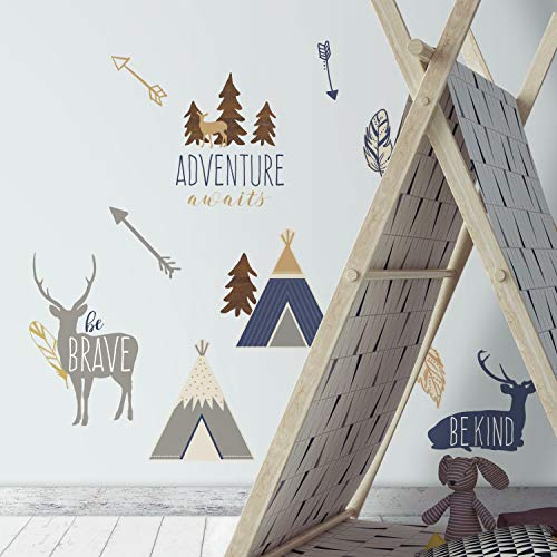 RoomMates Adventure Awaits Animal Peel And Stick Wall Decals