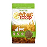 sWheat Scoop Multi-Cat All-Natural Clumping Cat Litter,...
