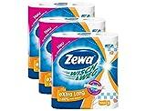Zewa Wisch und Weg Riesen Küchenrollen Extra Lang, saugstarke Wischtücher, 3 x 2 Rollen (6 x 72 Blatt) -