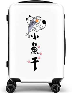 YCYHMY Trolley Case Trolley Travel Case Hand Luggage ABS Material Hard Shell 4 Wheels White 24 Inch