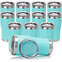 12-Pack Domicare Double Wall Vacuum Insulated Tumbler with Lid