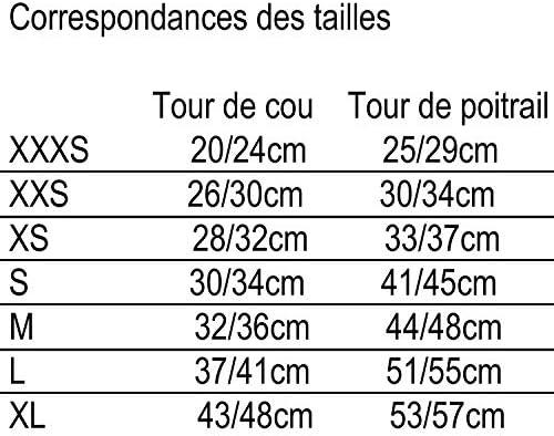 Martin Sellier Harnais Chien Mesh Haute qualité à répartition Uniforme Grand Confort Boucle Rapide Bandes réflechissantes (XXXS, Bleu)