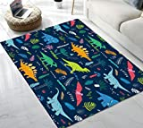 Area Rug Cute Dinosaur Area Rug for Living Room Bedroom Playing Room 5'x6'