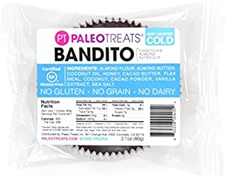 Paleo Treats Bandito: Paleo cookie, Gluten-Free, Grain-Free, Dairy-Free, Soy-Free, Egg-Free, Keto, Real Food Dessert, Low ...