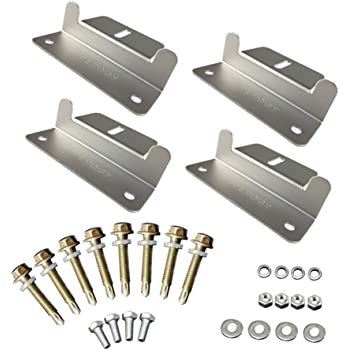 Renogy Solar Panel Mounting Z Bracket Mount Supporting for RV, Roof, Boat, set of 4 Units