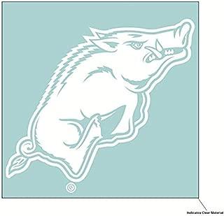 Wincraft NCAA University of Arkansas Razorbacks 6 x 6 inch White Decal