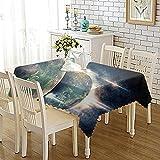 NHhuai Mesa de Comedor Lavable Cubierta de Lino de Tela con Impresión de Personalidad Engrosada