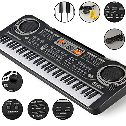 Ba30DEllylelly 61 Tasten Musik Elektronische Digitale Tastatur Elektrische Orgel Kinder Große Geschenke Mit Zufälligem Mikrofon Musikinstrument