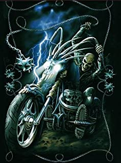 Those Flipping Pictures Motorcycle 3D UNFRAMED Holographic Wall Art-Lenticular Technology Causes The Artwork to Have Depth and Move-Hologram Style Images-Holographic Optical Illusions