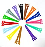 Tag-A-Room Color Coded Reusable Fastening Cable Straps, Cable Storage Ties, Hook and Loop Microfiber 6 Inch (30 Count)