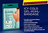 ICY COLD - Vendaje de gel para enfriar (35 x 18 cm, se puede utilizar por ambos lados, ajuste flexible mediante cierre de velcro, reutilizable, simplemente enfría en el congelador)