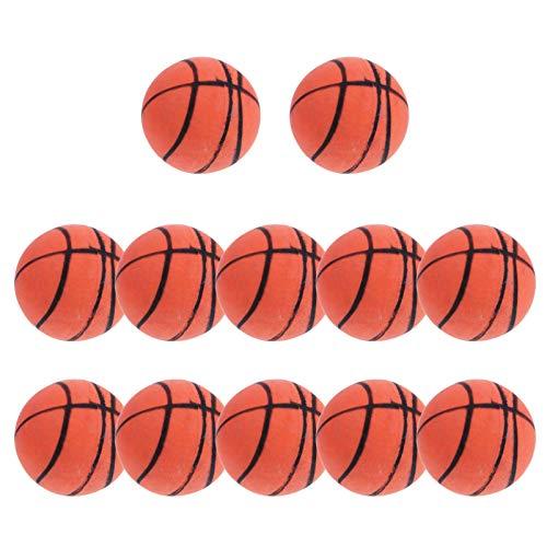 VORCOOL Mini Juguete de Baloncesto Pequeñas Bolas Suaves Goma Elástica Anti Estrés Juguete Mesa Accesorio 12 Piezas