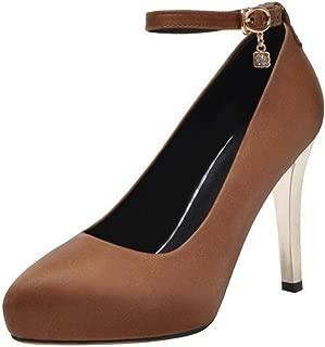 BeiaMina Women Fashion Stiletto Ankle Strap Pumps
