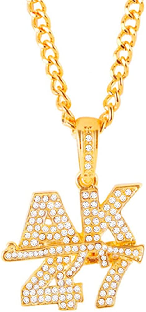 SIMANT Hip Hop AK-47 Alphanumeric Gu Game Men's Necklace Trendy Financial Popularity sales sale