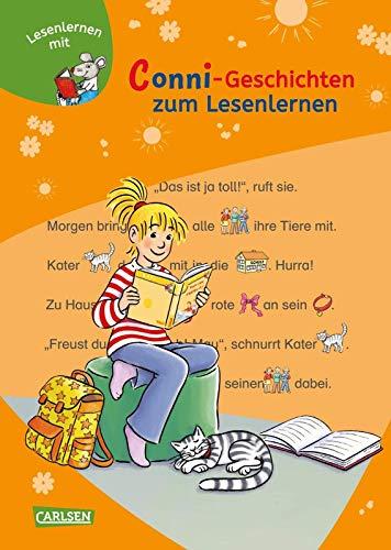 Conni-Geschichten zum Lesenlernen: Lesestufe 1 - für Leseanfänger: Bild-Wörter-Geschichten – mit Bildern lesen lernen (LESEMAUS zum Lesenlernen Sammelbände)