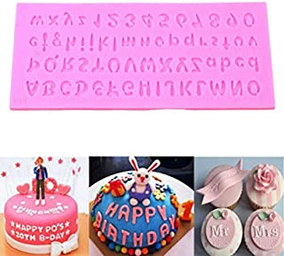Silicone Mold 3D English Letters Alphabet Sugar Paste Cupcake Chocolate Candy Soap Moulds Party Fondant Cake Decorating Tools